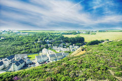 Paisaje del verano en Cornualles, Reino Unido Foto de archivo libre de regalías