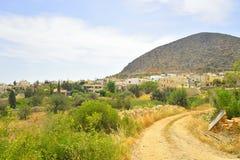 Paisaje del verano en Creta imagenes de archivo