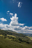Paisaje del verano en la montaña Imágenes de archivo libres de regalías