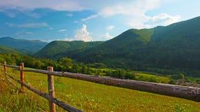 Paisaje del verano. timelapse. 4K. HD LLENO, 4096x2304. Foto de archivo libre de regalías