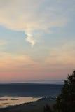 Paisaje del verano, visión desde la montaña fotografía de archivo