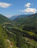 Paisaje del viaje por carretera alrededor de Aspen Carbondale Crystal y del mármol para los destinos de Colorado los E.E.U.U. Fotos de archivo libres de regalías