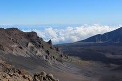 Paisaje del volcán de Haleakala Imagen de archivo libre de regalías