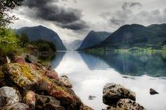 Paisaje dramático en Noruega Imagen de archivo