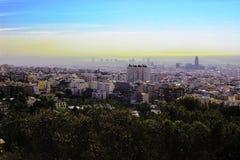 Paisaje en Barcellona fotografía de archivo libre de regalías