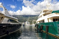 Paisaje en Budva, Montenegro Imagen de archivo