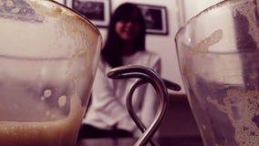 Paisaje en cafetería Fotografía de archivo