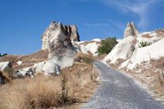 Paisaje en Cappadocia Turquía Fotografía de archivo