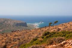 Paisaje en Crete imagen de archivo