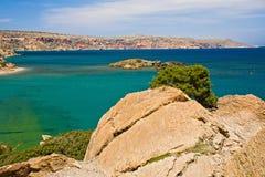 paisaje en Crete, Grecia fotos de archivo