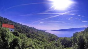 Paisaje en Croatia imagen de archivo