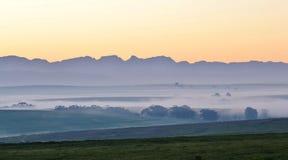 Paisaje en el amanecer Imagen de archivo