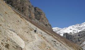 Paisaje en el circuito de Annapurna Imagenes de archivo