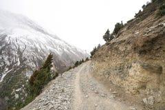 Paisaje en el circuito de Annapurna Foto de archivo
