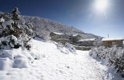 Paisaje en el circuito de Annapurna Fotos de archivo