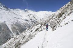 Paisaje en el circuito de Annapurna Imagen de archivo libre de regalías