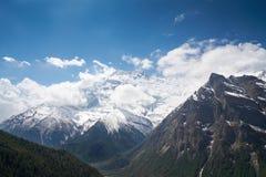 Paisaje en el circuito de Annapurna Imágenes de archivo libres de regalías