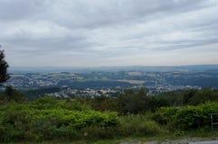 Paisaje en el Erzgebirge en Sajonia fotografía de archivo libre de regalías