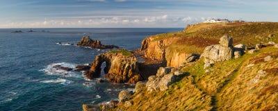 Paisaje en el extremo Cornualles Inglaterra de la tierra imagen de archivo