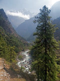 Paisaje en el Himalaya Foto de archivo libre de regalías