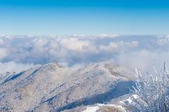 Paisaje en el invierno, Deogyusan en Corea fotografía de archivo libre de regalías