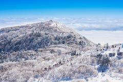 Paisaje en el invierno, Deogyusan en Corea imagen de archivo libre de regalías