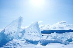 Paisaje en el lago Baikal imágenes de archivo libres de regalías