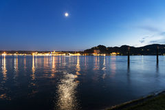 Paisaje en el lago Maggiore Fotografía de archivo