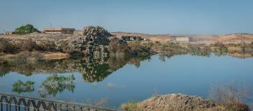 Paisaje en el lago Nasser fotos de archivo