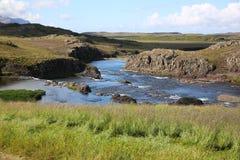 Paisaje en el oeste de Islandia Fotos de archivo libres de regalías