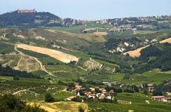 Paisaje en el Oltrepo Pavese (Italia) fotografía de archivo libre de regalías