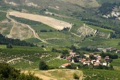 Paisaje en el Oltrepo Pavese (Italia) Imagen de archivo libre de regalías