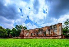 Paisaje en el parque histórico de Ayutthaya, adoración del ` s de Tailandia del Th Imágenes de archivo libres de regalías