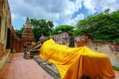 Paisaje en el parque histórico de Ayutthaya, adoración del ` s de Tailandia del Th Fotografía de archivo libre de regalías