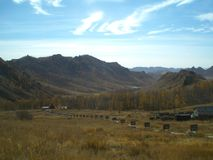 Paisaje en el parque nacional de Gorkhi-Terelj (Mongolia) Foto de archivo