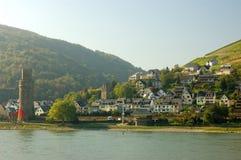 Paisaje en el río del Rin, Alemania Fotos de archivo libres de regalías