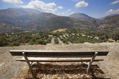 Paisaje en el valle de Amari crete Grecia imágenes de archivo libres de regalías