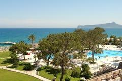 Paisaje en hotel del palacio de Kilikia Fotografía de archivo libre de regalías