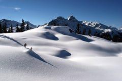 Paisaje en invierno Fotografía de archivo