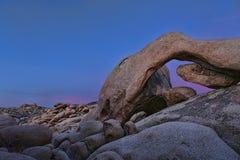 Paisaje en Joshua Tree National Park Foto de archivo libre de regalías