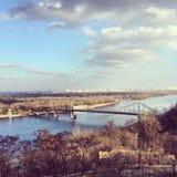 Paisaje en Kiev Imagenes de archivo
