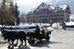 Paisaje en Kitzbuhel Fotografía de archivo libre de regalías