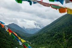 Paisaje en la carretera de Sichuan en China Fotos de archivo libres de regalías