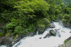 Paisaje en la carretera de Sichuan en China Imágenes de archivo libres de regalías