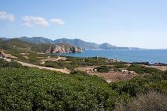 Paisaje en la ceja Pecora, Cerdeña, Italia Fotografía de archivo libre de regalías