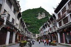 Paisaje en la ciudad vieja de Zhenyuan Fotografía de archivo libre de regalías