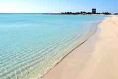 Paisaje en la costa jónica en Salento, Italia fotografía de archivo libre de regalías