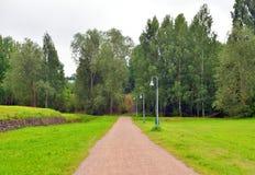 Paisaje en la fortaleza de Lappeenranta Imagen de archivo libre de regalías