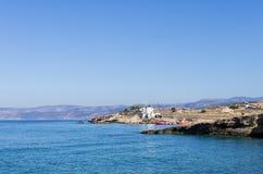 Paisaje en la isla de Ano Koufonisi, Cícladas, Grecia Imágenes de archivo libres de regalías