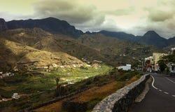 Paisaje en la isla de Gomera del La - islas canarias Foto de archivo libre de regalías